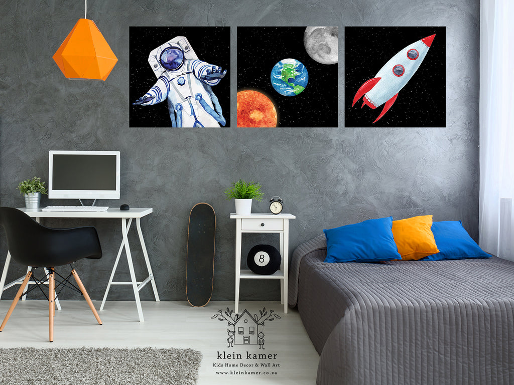 3 Set | Astronaut | Planets | Space