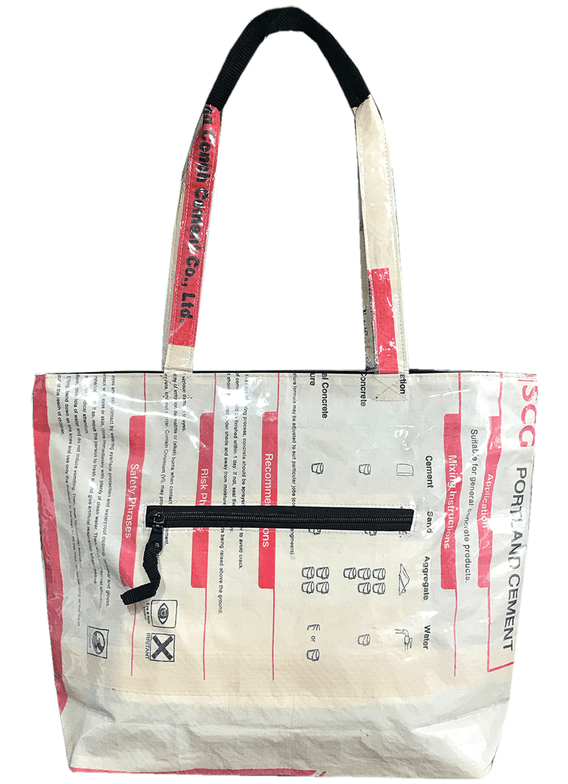 recycled material eco friendly tote shoulder bag colourful