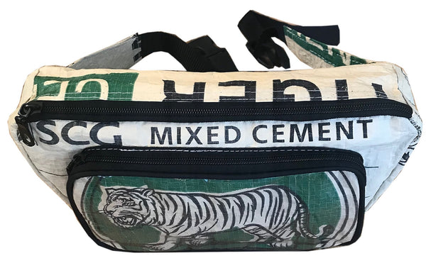 Recycled material bumbag with tiger by UppyBags