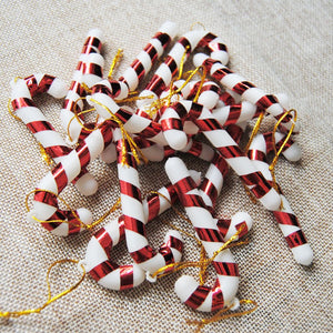 Candy Cane Christmas Ornaments - Decorate Your Christmas Tree, Wreath, Or Add To Gifts! (6 Assorted Pieces)