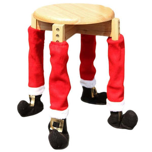 Santa Chair Leg Covers - Add A Touch Of Santa To Your Home!