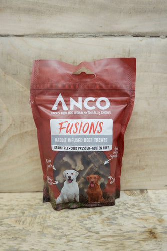 Anco Fusions Rabbit Infused Beef Treats 100g
