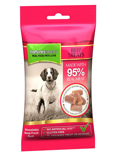 Natures Menu Beef Treats 60g