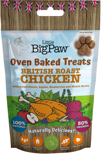 Little BigPaw British Roast Chicken Treats 130g