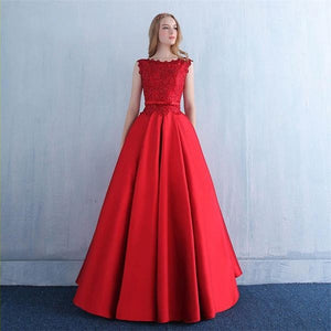 Red Evening Ball Gown
