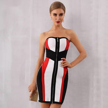 Load image into Gallery viewer, Multicolor Striped Mini Dress