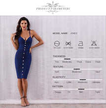 Load image into Gallery viewer, Buttons Sleeveless Bodycon Dress