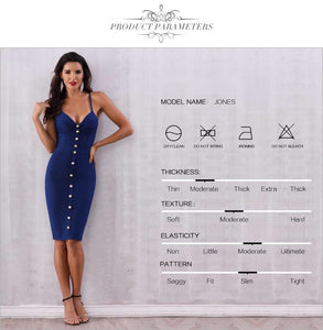 Buttons Sleeveless Bodycon Dress