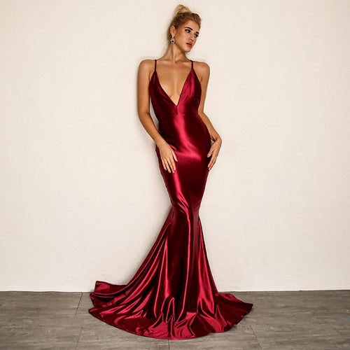 Backless Extra Evening Gown