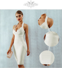 Load image into Gallery viewer, Halter Backless Bodycon Dress