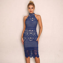 Load image into Gallery viewer, Crochet Midi Dress