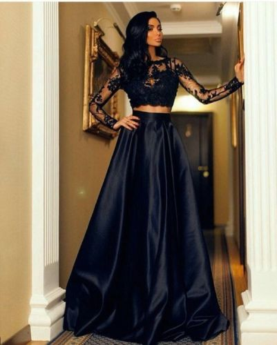 Black Long Sleeves and Skirt Set