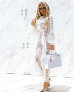 Sheer Lace Jumpsuit