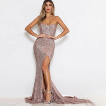 Load image into Gallery viewer, Strapless Mermaid Bodycon Gown