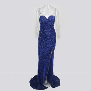 Strapless Mermaid Bodycon Gown