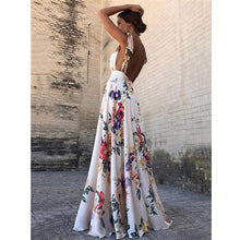 Load image into Gallery viewer, Floral Backless Maxi Dress
