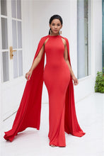 Load image into Gallery viewer, Cape Solid Maxi Dress