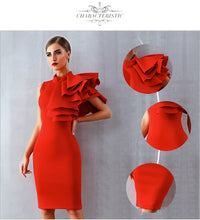 Load image into Gallery viewer, One Side Ruffles Dress