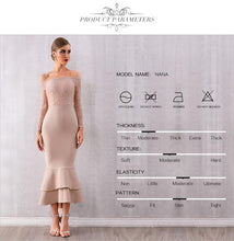 Load image into Gallery viewer, Nude Lace Top Dress
