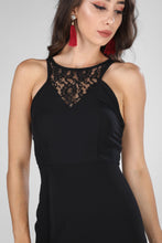 Load image into Gallery viewer, Décolletage Back Black Dress