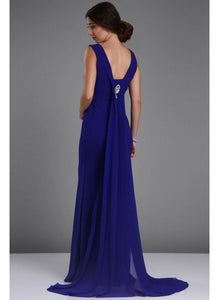 Blue Elegant Evening Gown