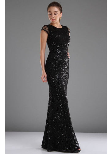 Black Sequins Maxi Dress