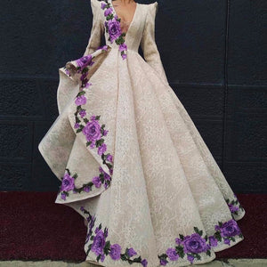 Luxury Floral Edges Gown