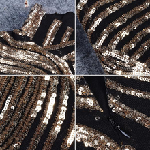 Load image into Gallery viewer, Glitter Golden Turtleneck Dress