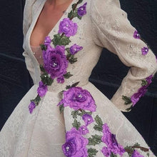 Load image into Gallery viewer, Luxury Floral Edges Gown
