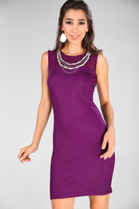 Collar Accessory Purple Dress
