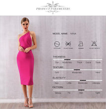 Load image into Gallery viewer, One Shoulder Bandage Dress