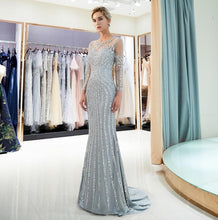 Load image into Gallery viewer, Beaded Luxury Evening Gown
