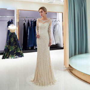 Beaded Luxury Evening Gown