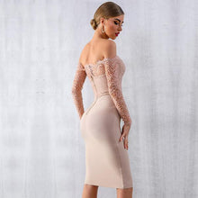 Load image into Gallery viewer, Nude Lace Long Sleeves