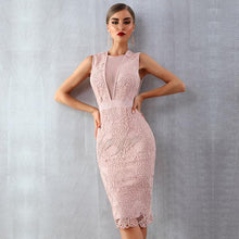 Load image into Gallery viewer, Lace Classy Midi Dress