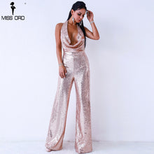 Load image into Gallery viewer, ADD Sequin Light Pink Jumpsuit