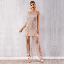 Load image into Gallery viewer, Tassel Nude Mini Dress