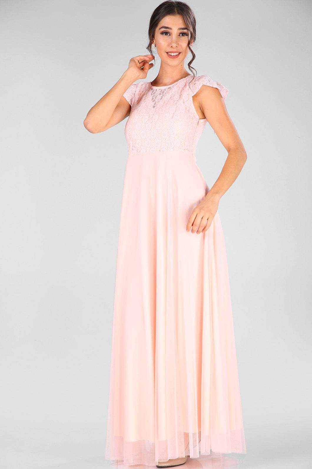 Powder Rose Evening Dress