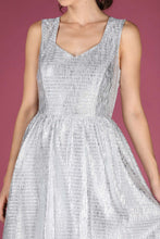 Load image into Gallery viewer, Buttoned Back Silvery Grey Short Dress