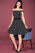 Load image into Gallery viewer, Off Shoulder Patterned Dress