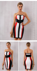 Multicolor Striped Mini Dress