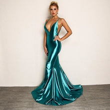 Load image into Gallery viewer, Backless Extra Evening Gown