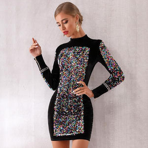Sparkly Long Sleeve Dress
