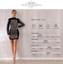 Load image into Gallery viewer, Sparkly Long Sleeve Dress