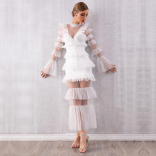 Load image into Gallery viewer, White Lace Ruffle Dress
