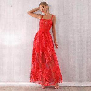 Red Celebrity Party Gown