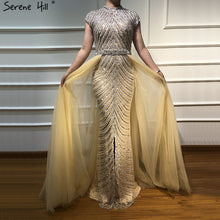Load image into Gallery viewer, ADD Nude Sparkle Maxi Dress