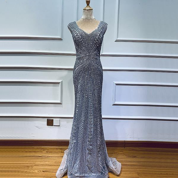Luxury Crystal Evening Gown