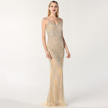 Load image into Gallery viewer, Luxury Sequin Diamond Gown