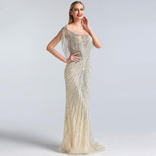 Load image into Gallery viewer, Beading Tassel Evening Dress
